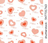 cute seamless pattern with...   Shutterstock .eps vector #547731763