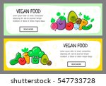 two horizontal banners with... | Shutterstock .eps vector #547733728