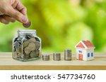 savings plans for housing ... | Shutterstock . vector #547734760