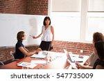 group of businesswomen meeting... | Shutterstock . vector #547735009