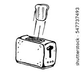 toasts flying out of toaster... | Shutterstock .eps vector #547737493
