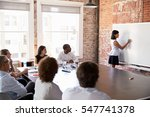 businesswoman at whiteboard... | Shutterstock . vector #547741378