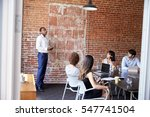 businessman standing to address ... | Shutterstock . vector #547741504