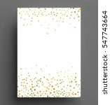 gold confetti polka dot... | Shutterstock .eps vector #547743664