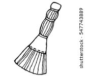 broom. vector illustration of... | Shutterstock .eps vector #547743889