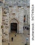 jerusalem  israel   december 8  ... | Shutterstock . vector #547745614