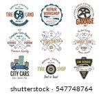 vintage car service badges ... | Shutterstock . vector #547748764