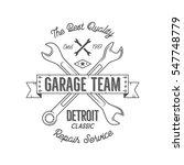 garage service vintage tee... | Shutterstock . vector #547748779