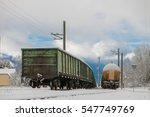train wagons in winter... | Shutterstock . vector #547749769