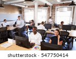 view of staff in busy customer... | Shutterstock . vector #547750414