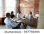 group of businesspeople meeting ... | Shutterstock . vector #547750444
