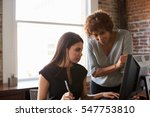 two businesswomen working on... | Shutterstock . vector #547753810