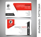 Red modern creative business card and name card,horizontal simple clean template vector design, layout in rectangle size. | Shutterstock vector #547761664