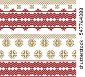 scheme for embroidery nordic... | Shutterstock . vector #547764388