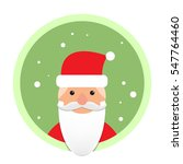 santa claus flat icon on green... | Shutterstock .eps vector #547764460