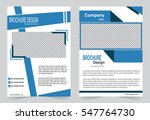 blue brochure template flyer...   Shutterstock .eps vector #547764730