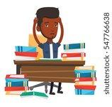 african american student... | Shutterstock .eps vector #547766638