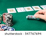 chips and cards for poker in...   Shutterstock . vector #547767694