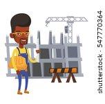 african american engineer with... | Shutterstock .eps vector #547770364