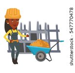 african female builder with... | Shutterstock .eps vector #547770478