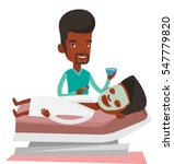african cosmetologist applying... | Shutterstock .eps vector #547779820