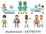 patient during x ray procedure. ...   Shutterstock .eps vector #547781974