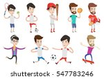 football players in action... | Shutterstock .eps vector #547783246