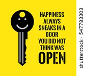 Motivational Quote. Happiness...