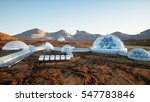 mars base  colony. expedition... | Shutterstock . vector #547783846