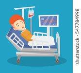 young caucasian woman lying in... | Shutterstock .eps vector #547784998