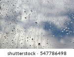 Raindrops On A Window During...