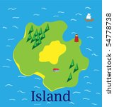 island vector map | Shutterstock .eps vector #54778738