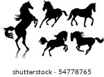 five black horse galloping on a ...