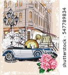 series of vintage backgrounds... | Shutterstock .eps vector #547789834