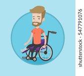 hipster caucasian man sitting... | Shutterstock .eps vector #547791076