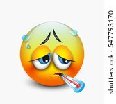 cute sick emoticon with... | Shutterstock .eps vector #547793170
