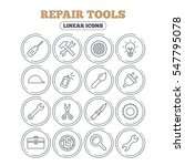 repair tools icons. hammer with ...