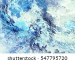 Icy Clouds. Blue Artistic...