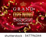grand opening banner with gold... | Shutterstock .eps vector #547796344