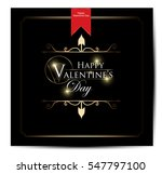 happy valentines day card | Shutterstock .eps vector #547797100