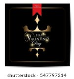 happy valentines day card | Shutterstock .eps vector #547797214