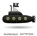 black pirate submarine. jolly... | Shutterstock .eps vector #547797244