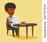 an african american woman... | Shutterstock .eps vector #547797574