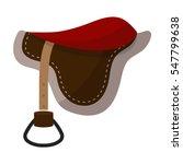 Saddle Icon In Cartoon Style...