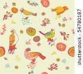 birds seamless pattern | Shutterstock .eps vector #54780187