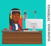 african american dj working on... | Shutterstock .eps vector #547804414