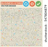 business icon set clean vector   Shutterstock .eps vector #547804879