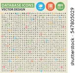 Database icon set,clean vector
