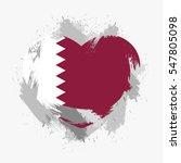 flag of qatar isolated on... | Shutterstock .eps vector #547805098