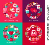 valentines day concepts set.... | Shutterstock .eps vector #547806394
